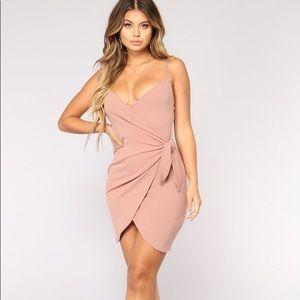 Fashion Nova | Liliana Wrap Dress in Mauve